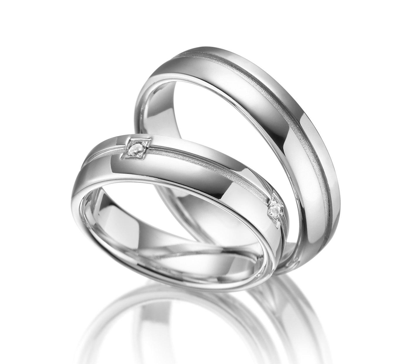 Stříbrné snubní prsteny SI-12