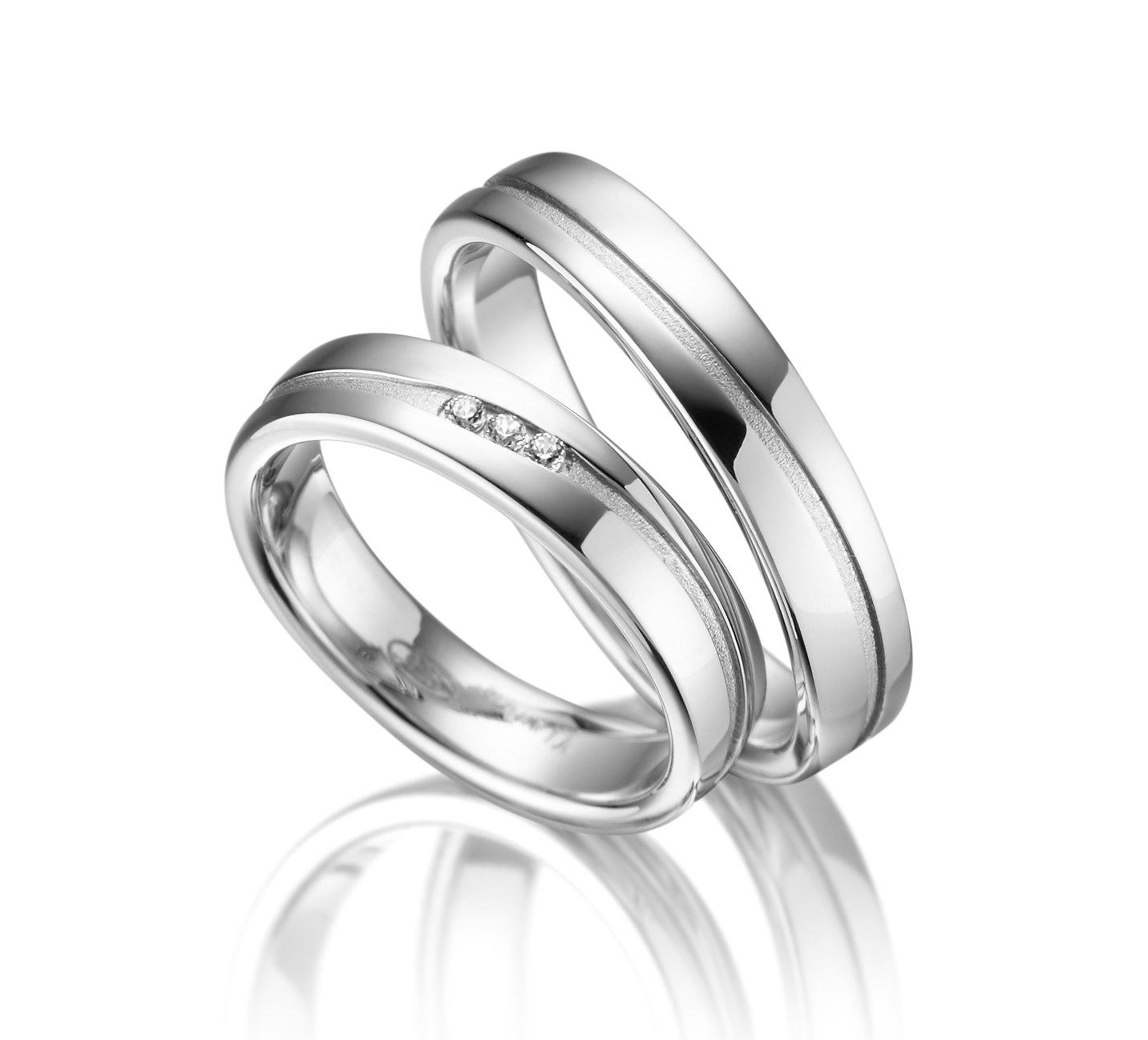 Stříbrné snubní prsteny SI-13
