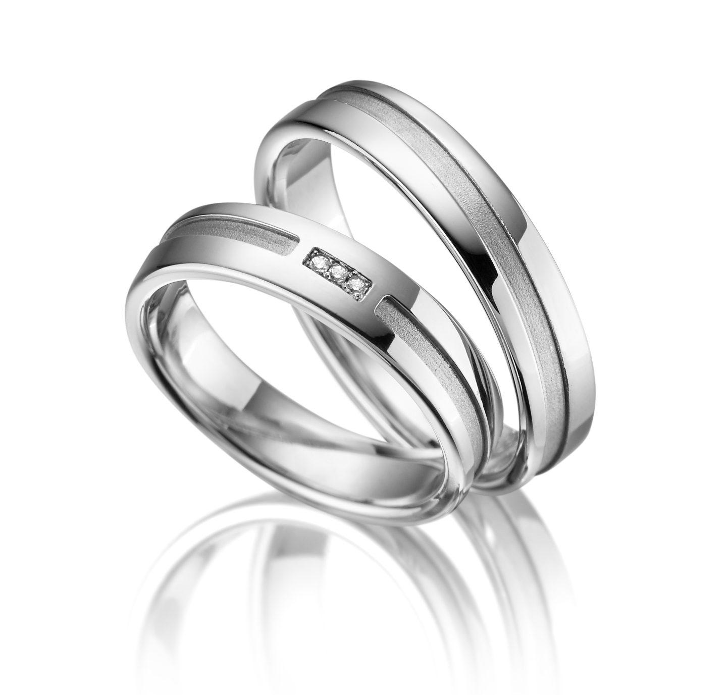 Stříbrné snubní prsteny SI-14