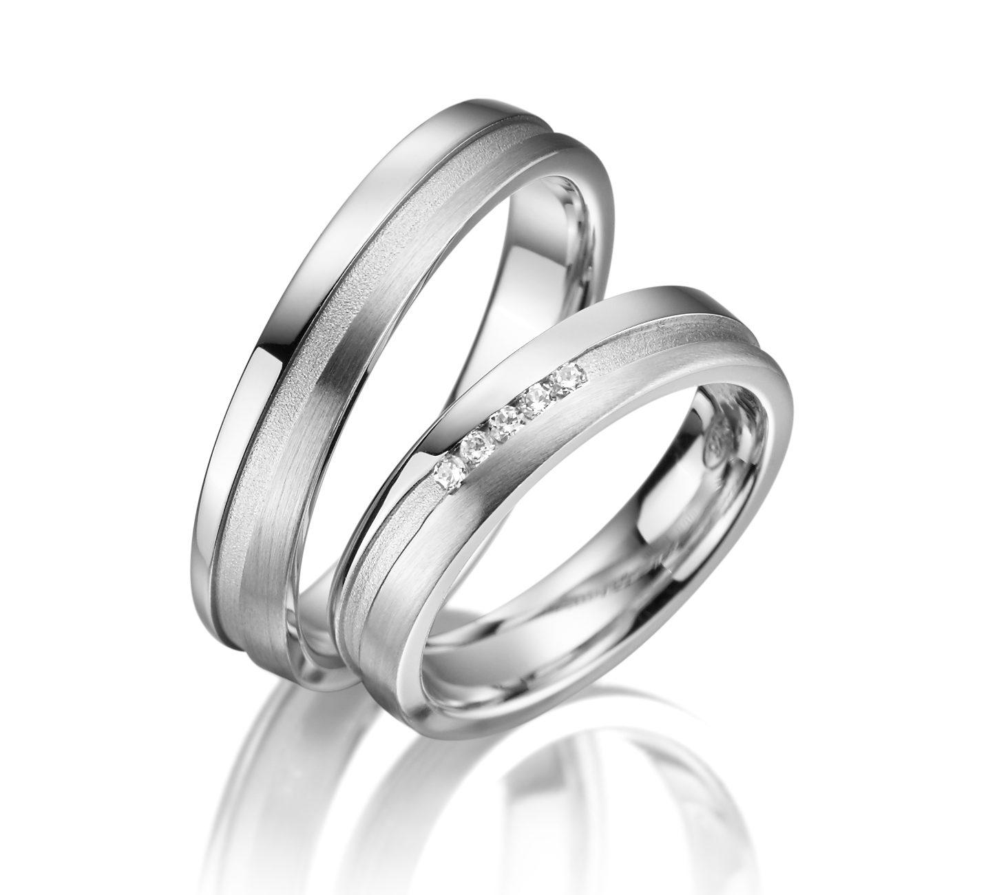Stříbrné snubní prsteny SI-15