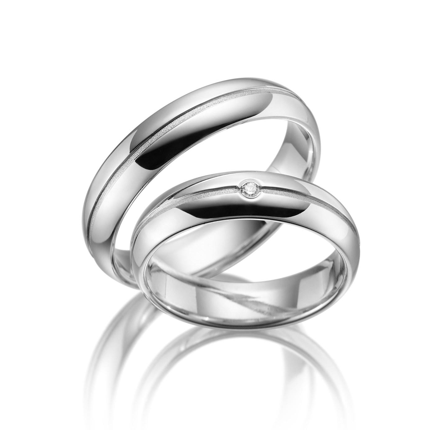 Stříbrné snubní prsteny SI-16