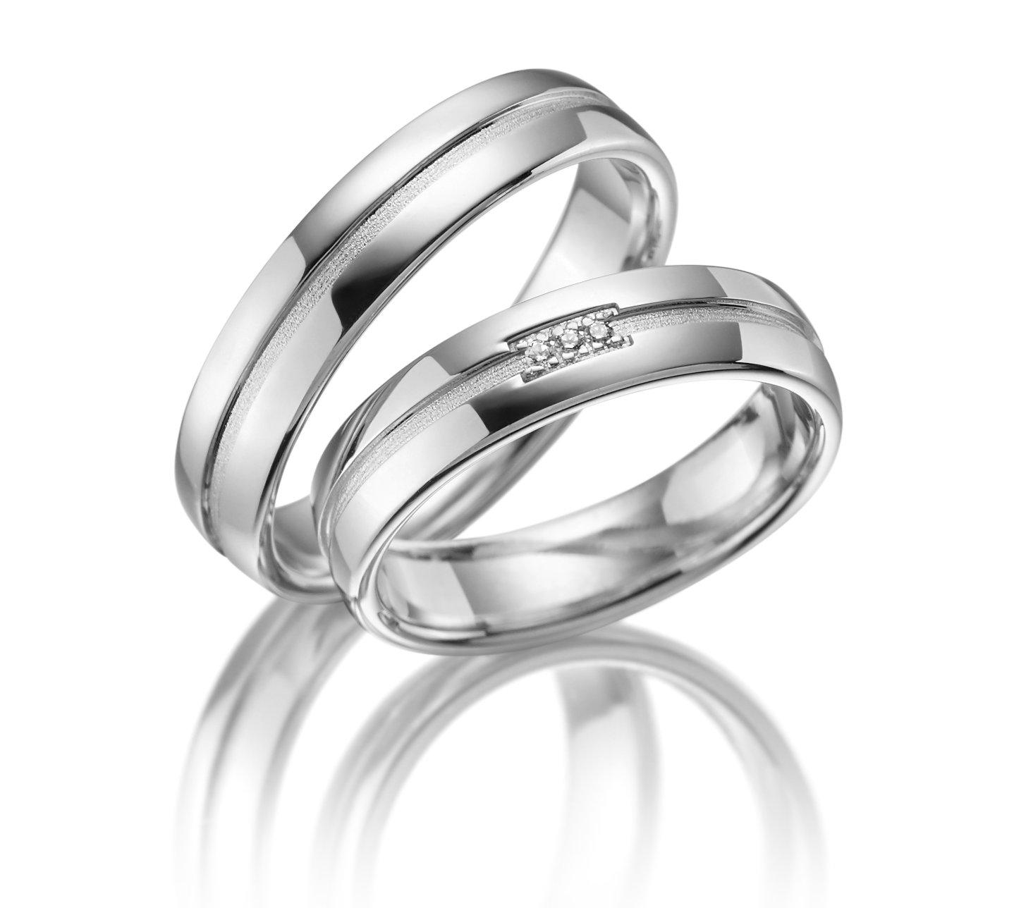 Stříbrné snubní prsteny SI-17