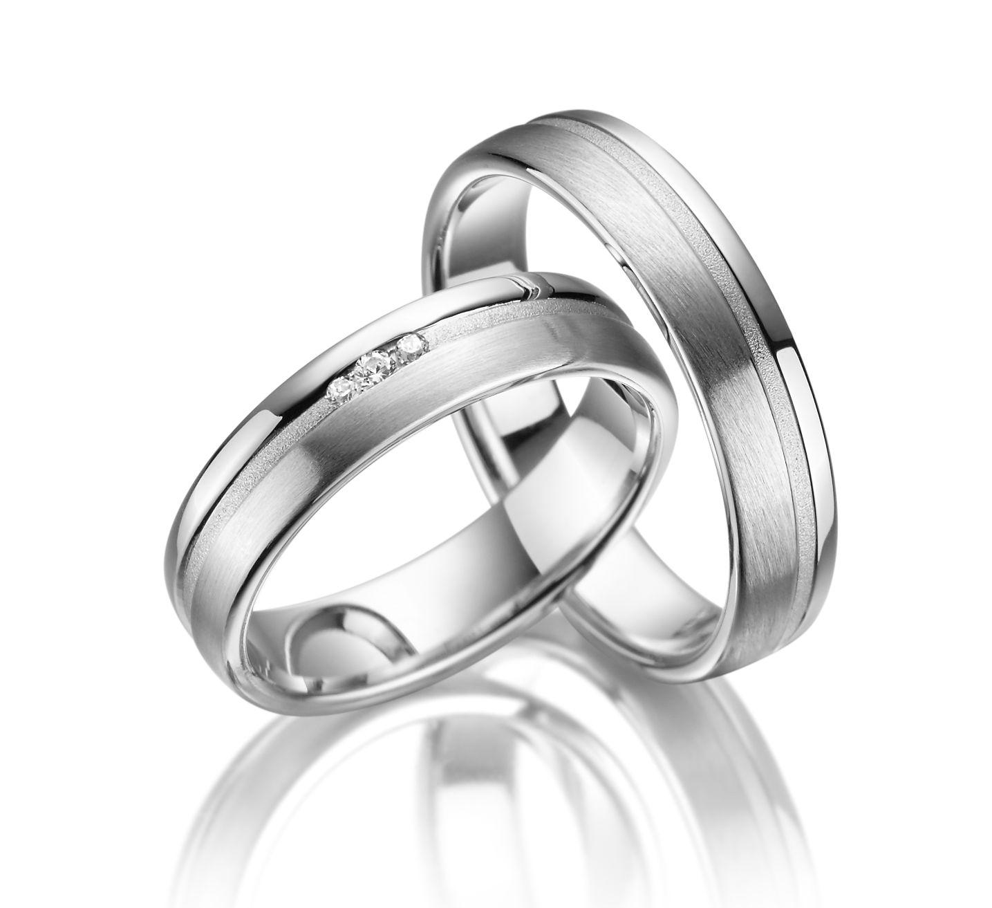 Stříbrné snubní prsteny SI-18