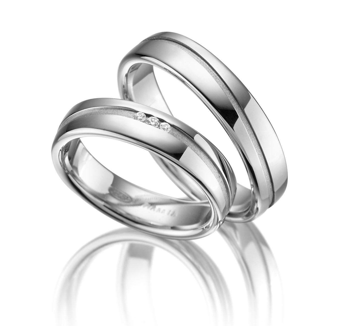 Stříbrné snubní prsteny SI-19