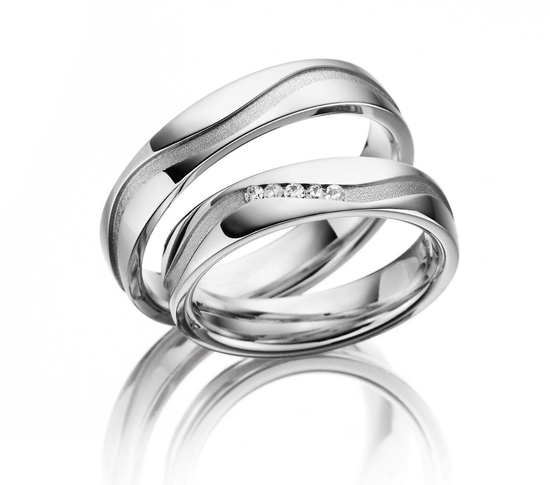 Stříbrné snubní prsteny SI-20