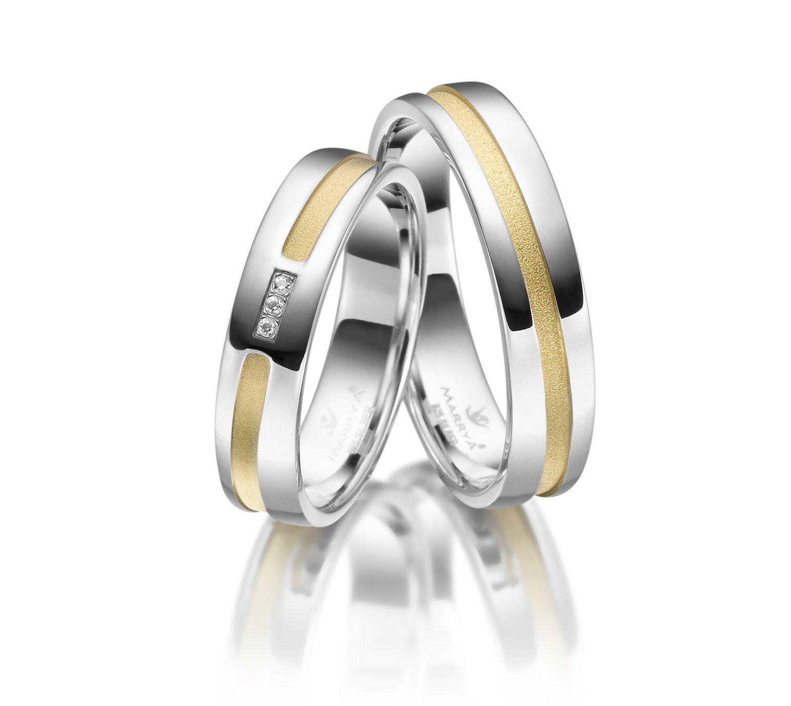 Stříbrné snubní prsteny SI-21