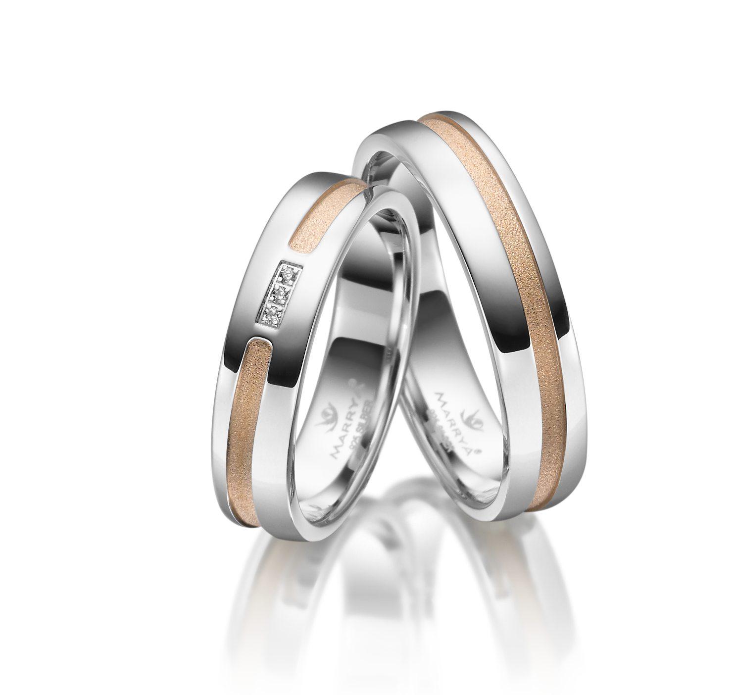Stříbrné snubní prsteny SI-22