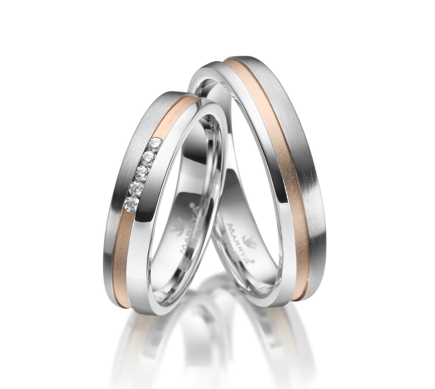 Stříbrné snubní prsteny SI-24