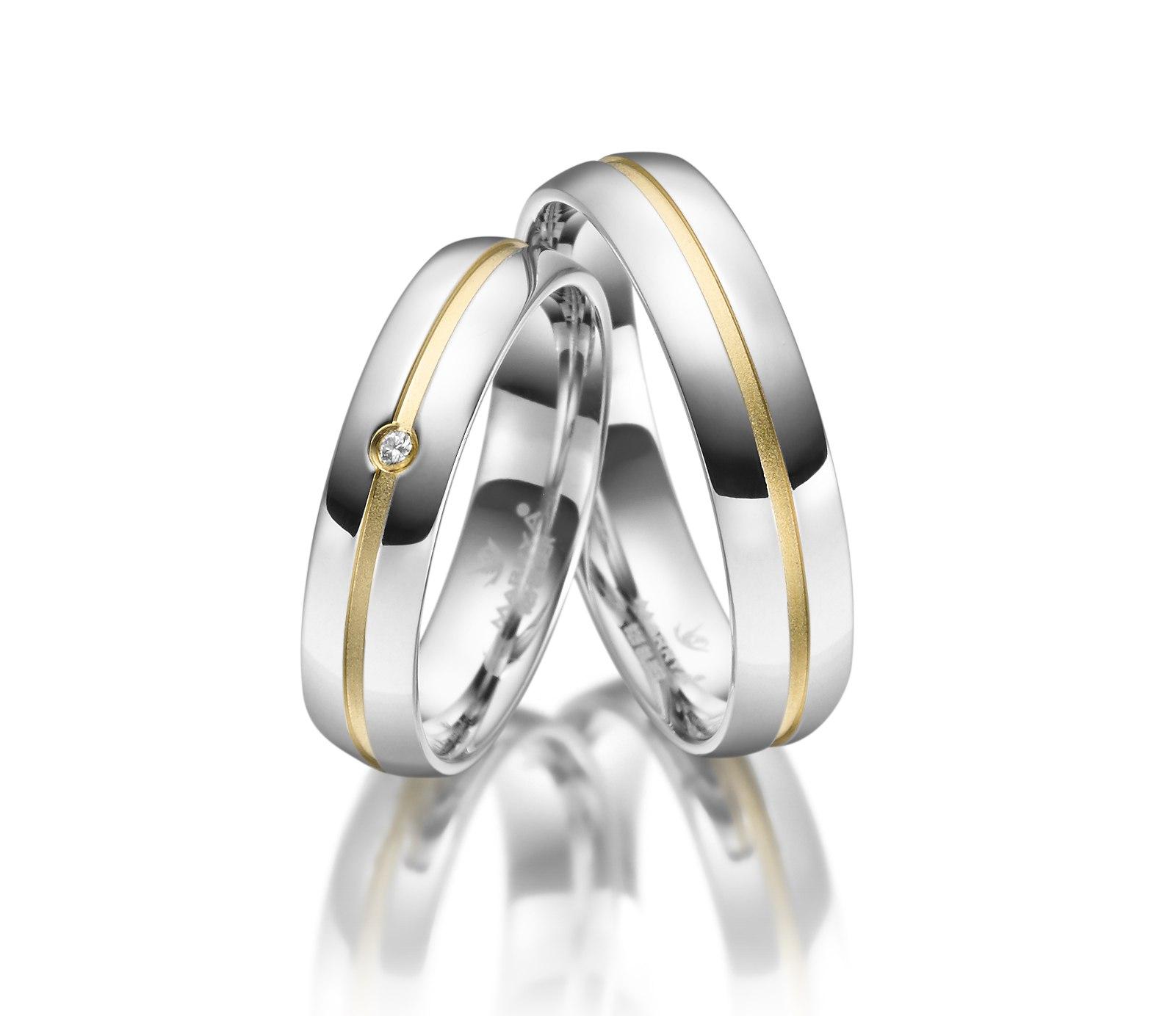 Stříbrné snubní prsteny SI-25