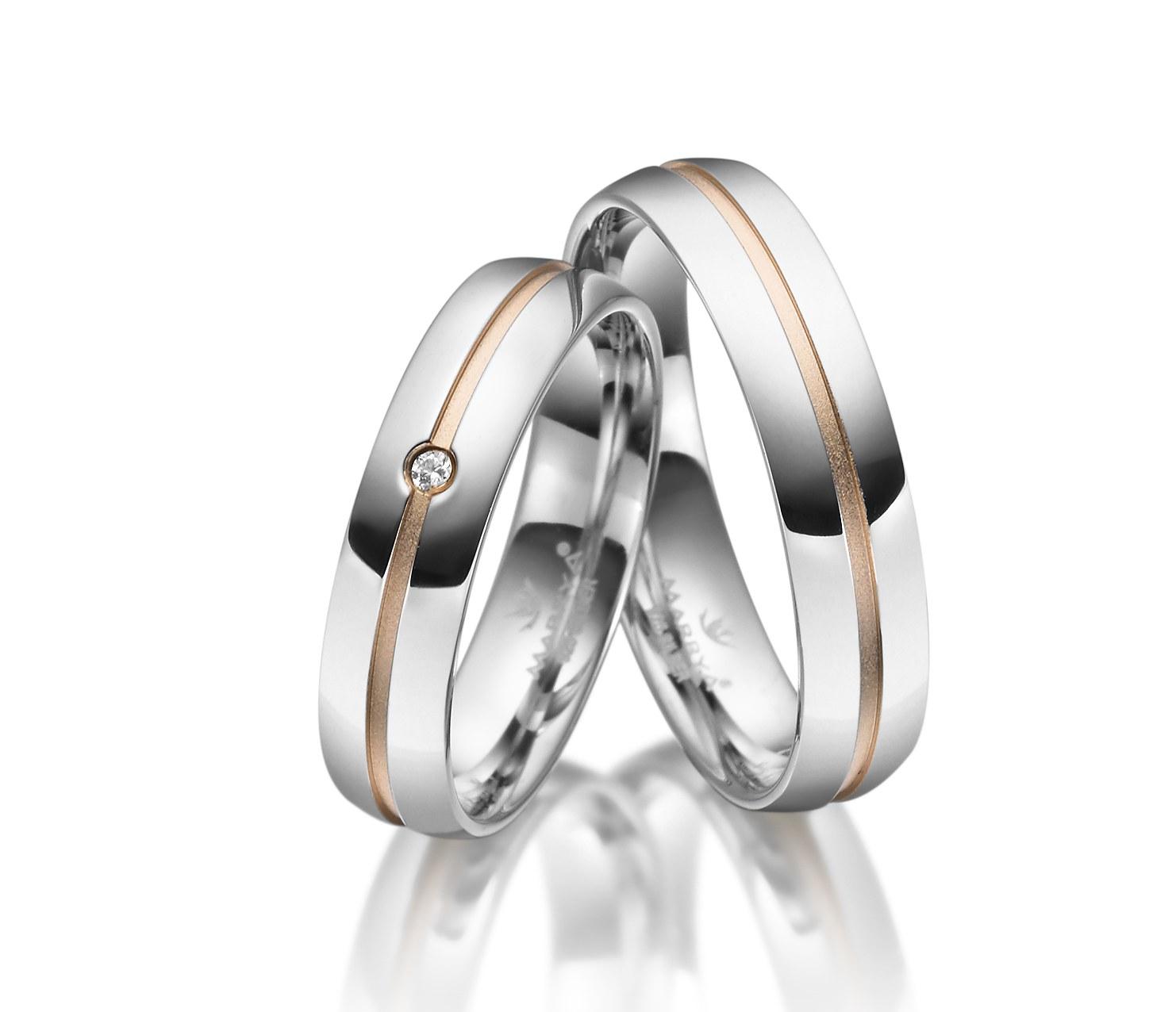 Stříbrné snubní prsteny SI-26