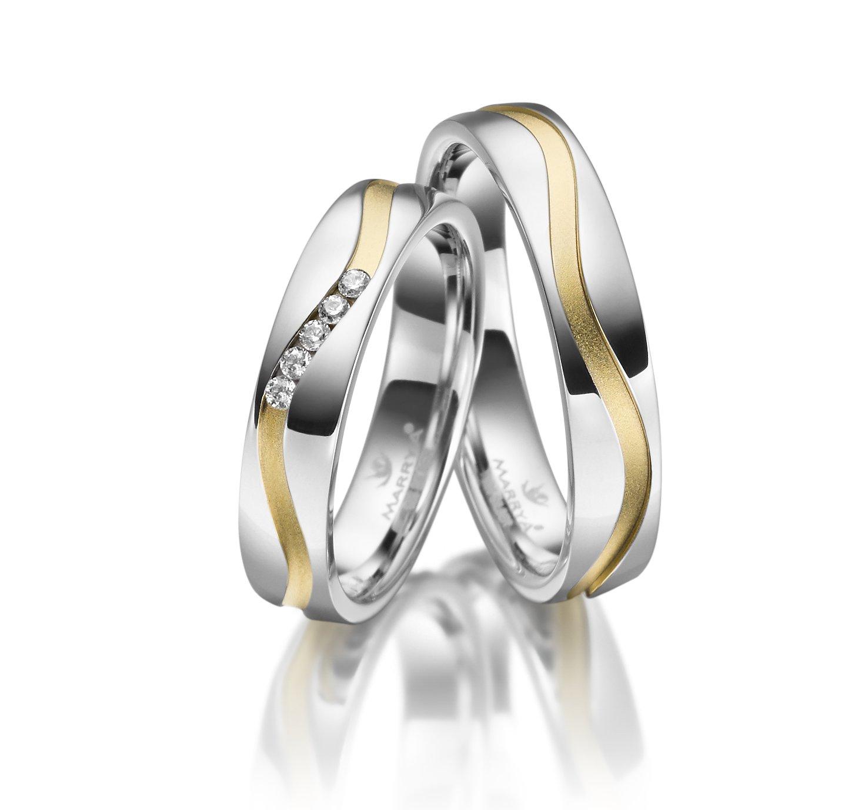 Stříbrné snubní prsteny SI-27
