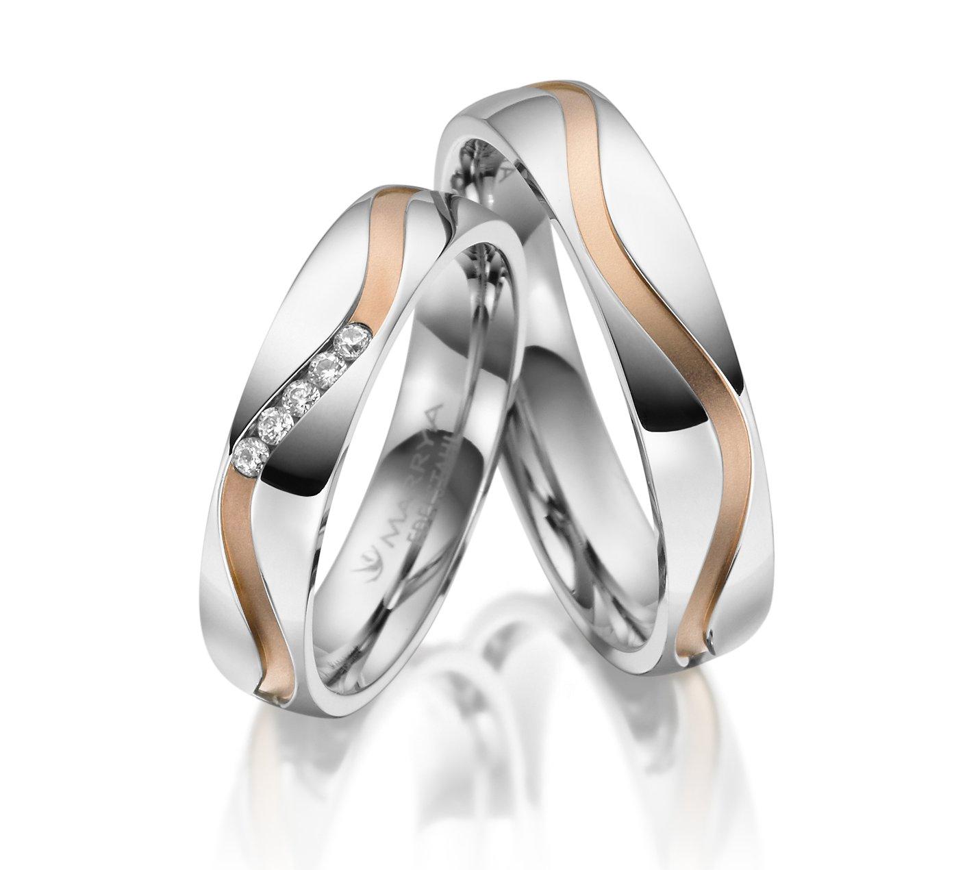 Stříbrné snubní prsteny SI-28