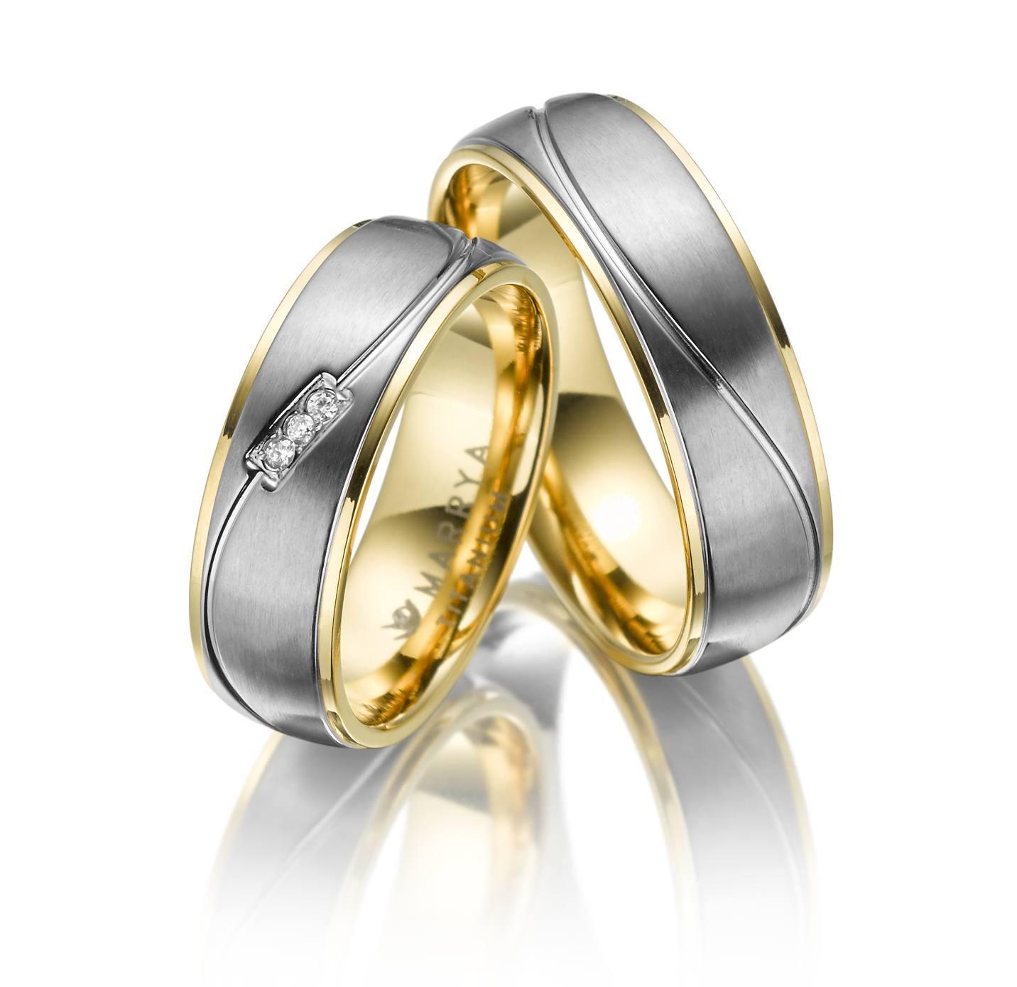 Titanové snubní prsteny TI-05
