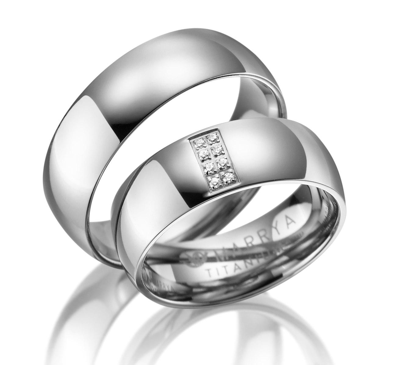 Titanové snubní prsteny TI-06