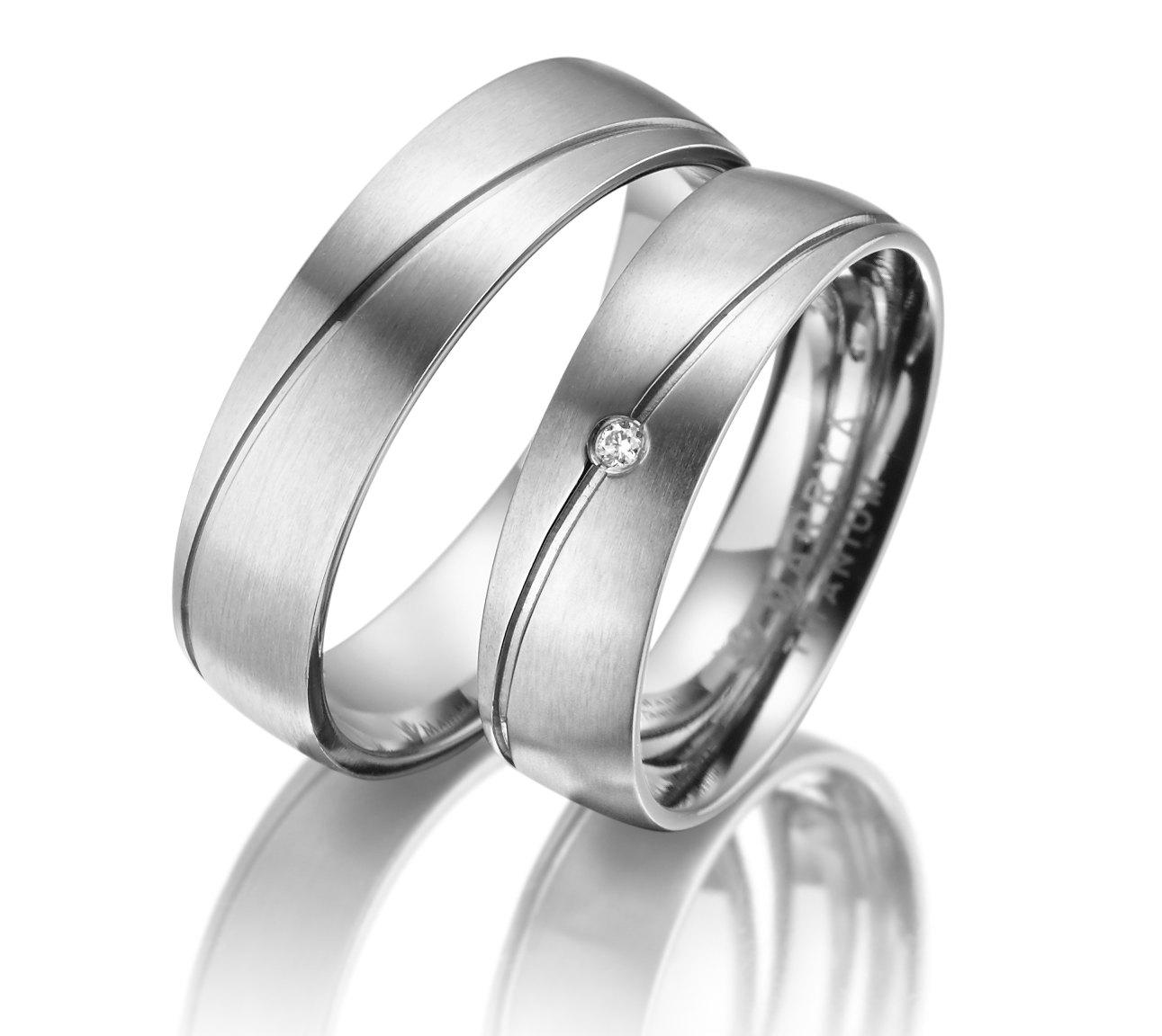 Titanové snubní prsteny TI-09