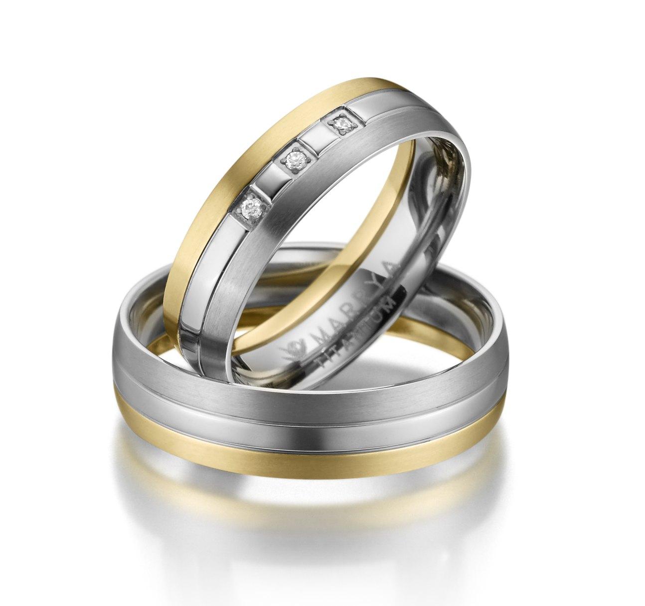 Titanové snubní prsteny TI-10