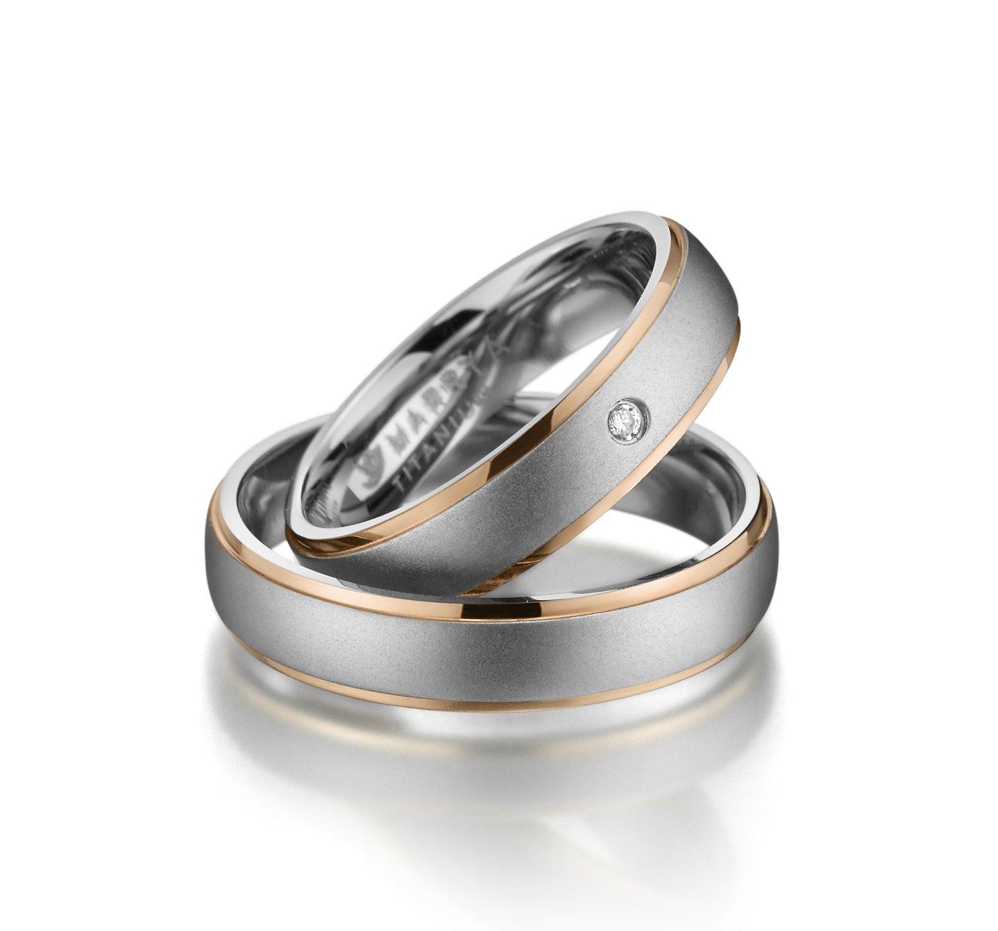 Titanové snubní prsteny TI-12