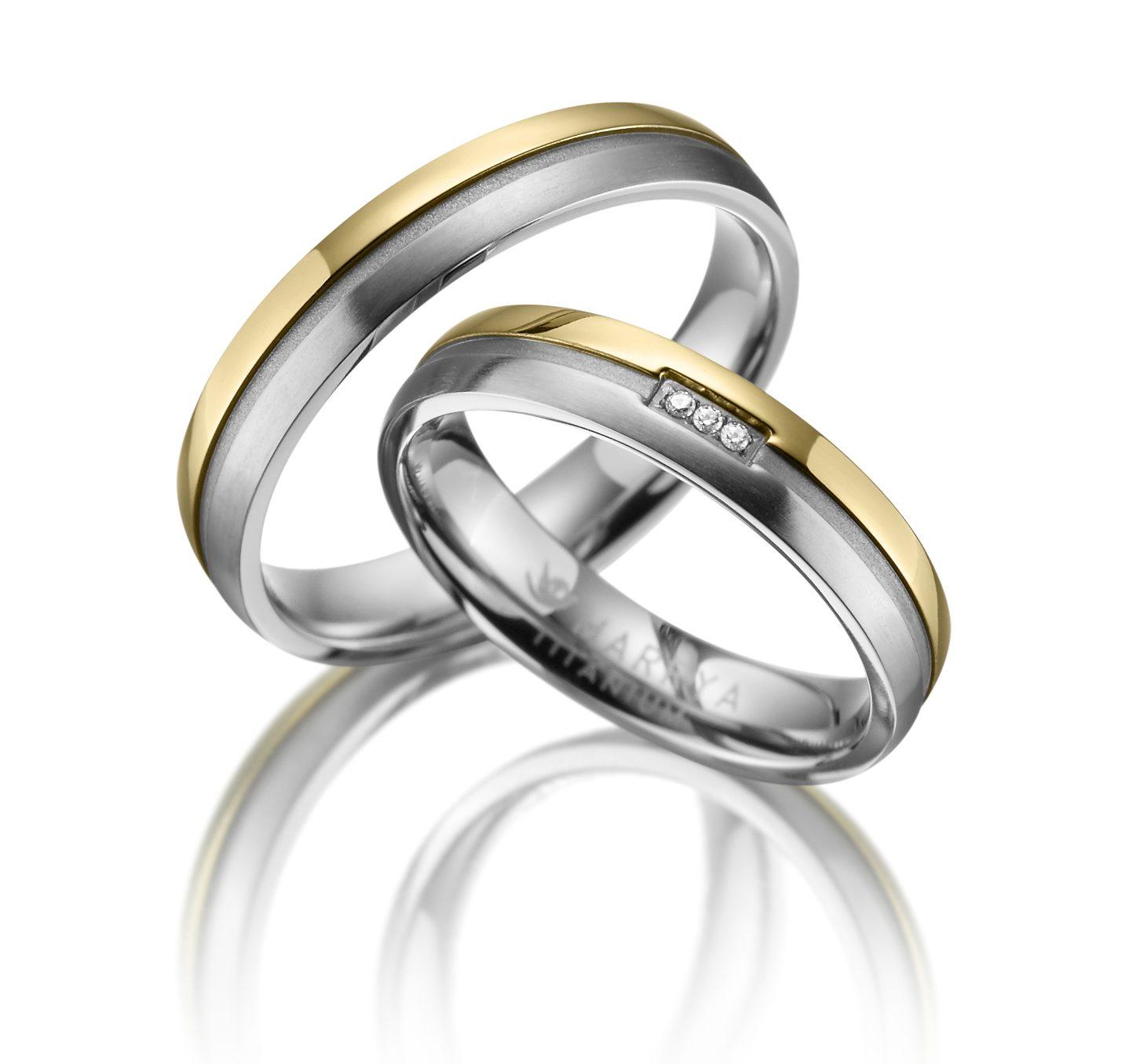 Titanové snubní prsteny TI-13