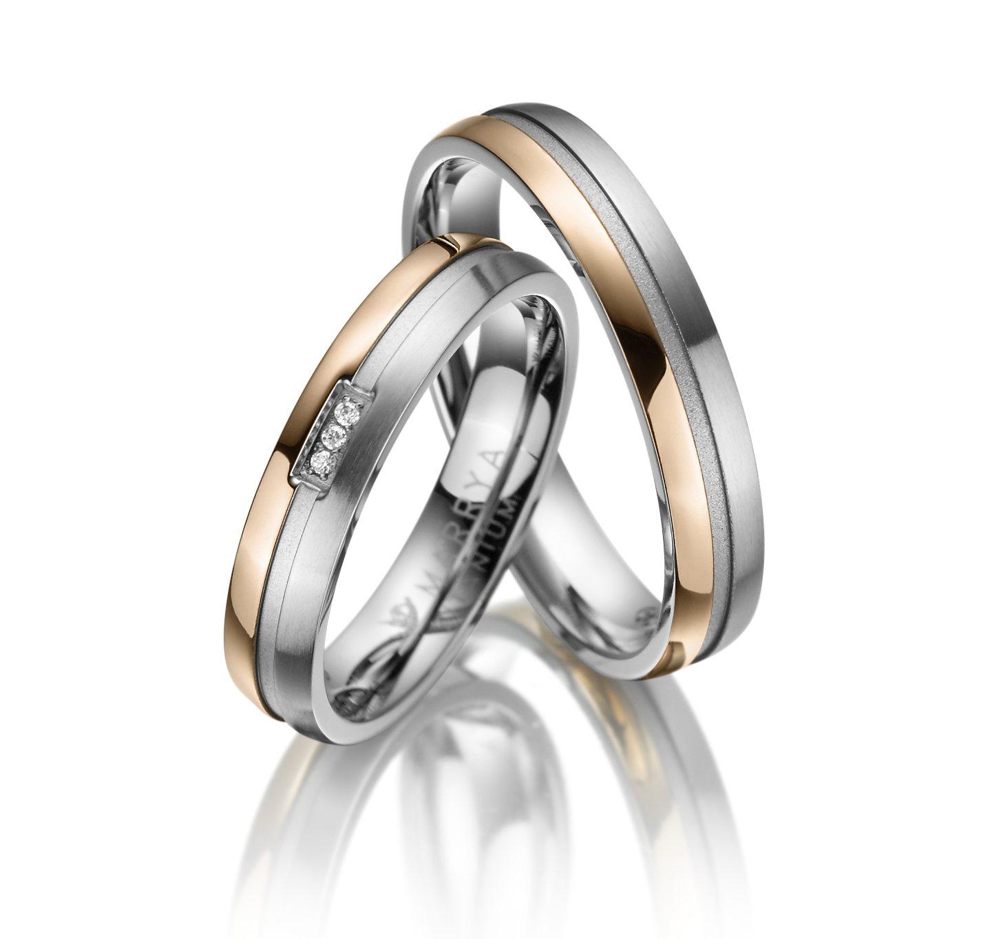 Titanové snubní prsteny TI-14