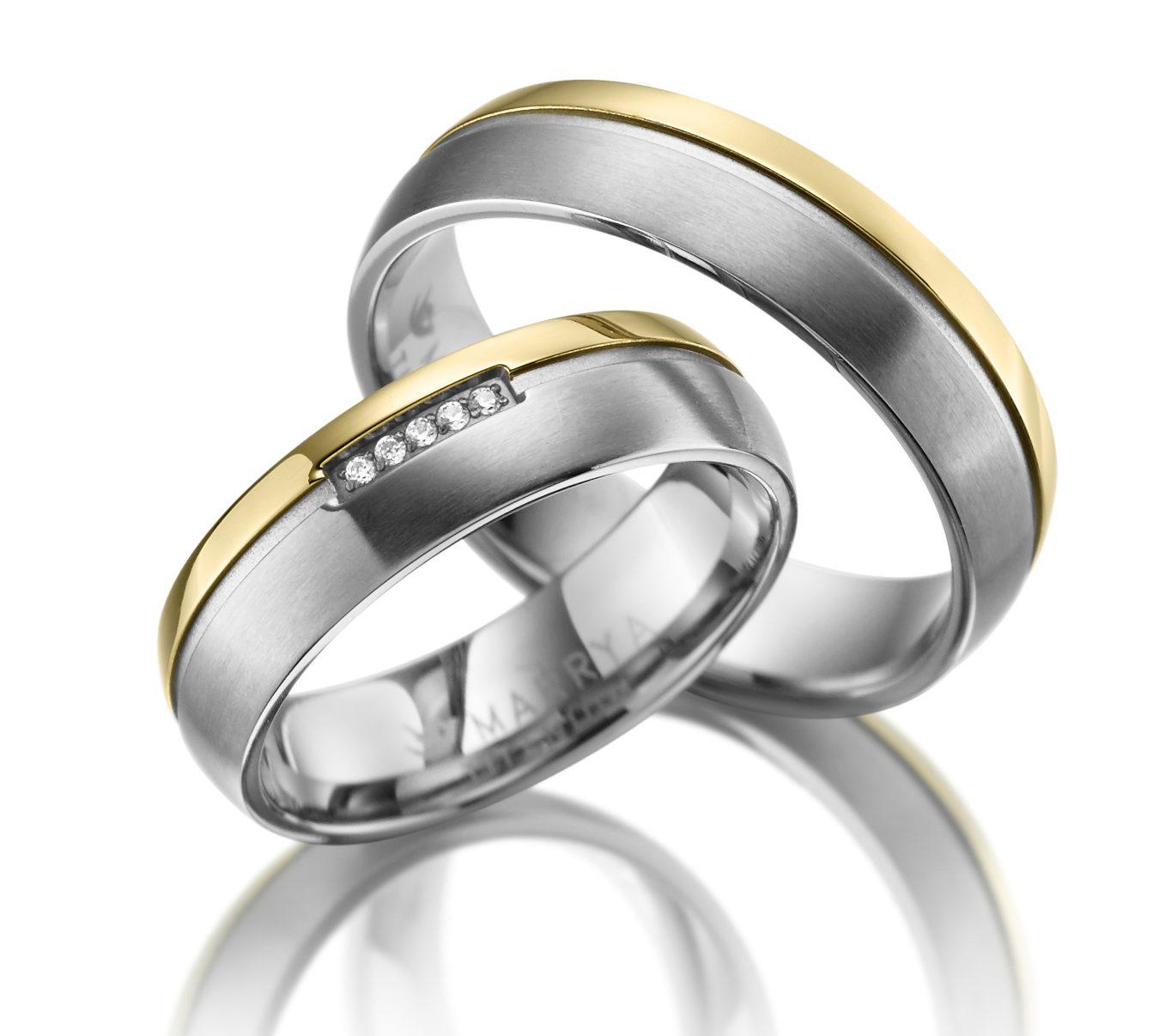 Titanové snubní prsteny TI-15