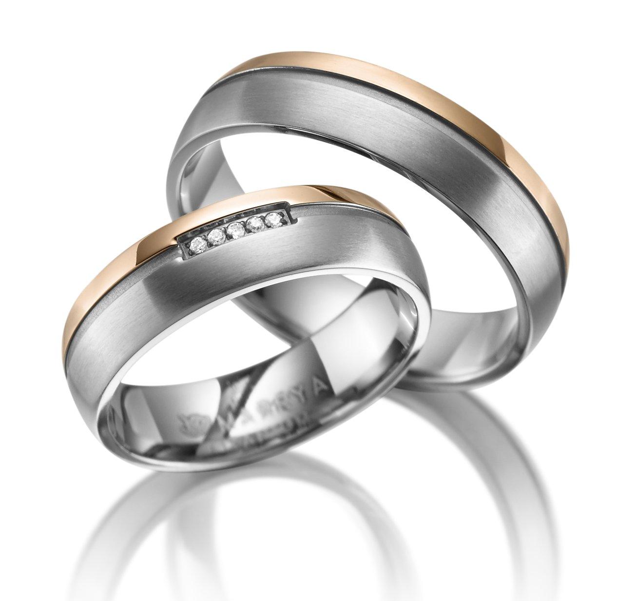 Titanové snubní prsteny TI-16
