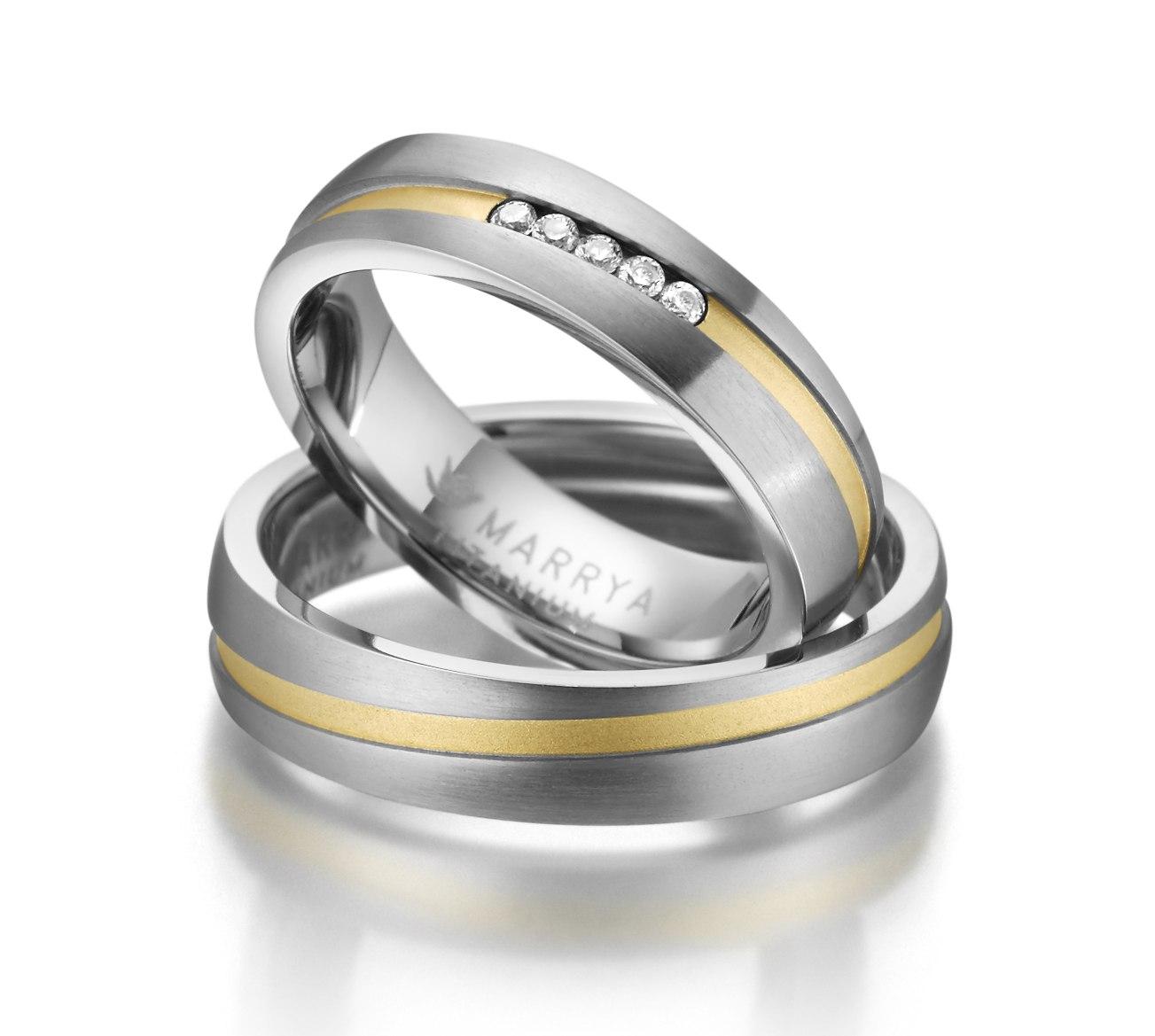 Titanové snubní prsteny TI-17