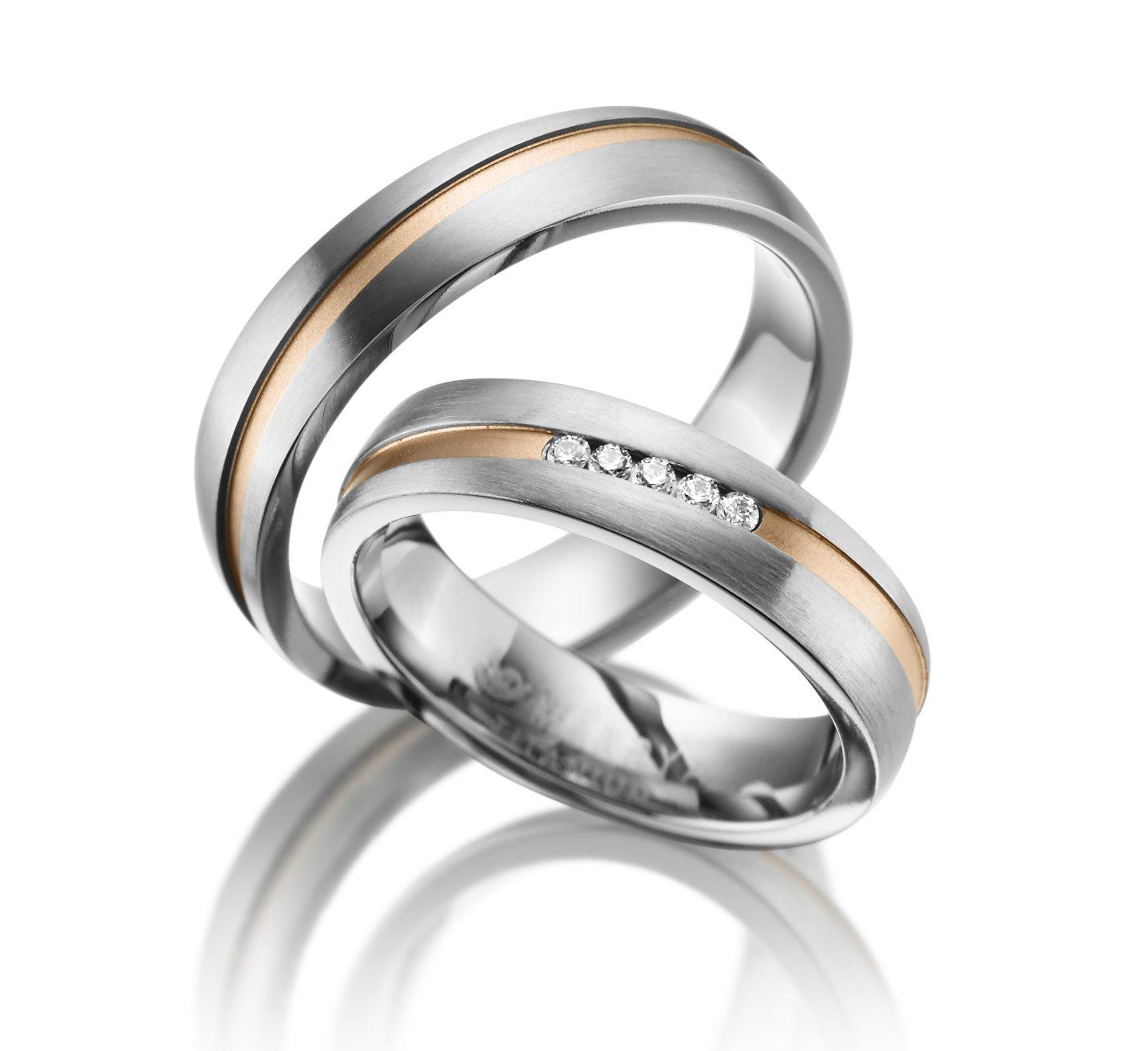 Titanové snubní prsteny TI-18