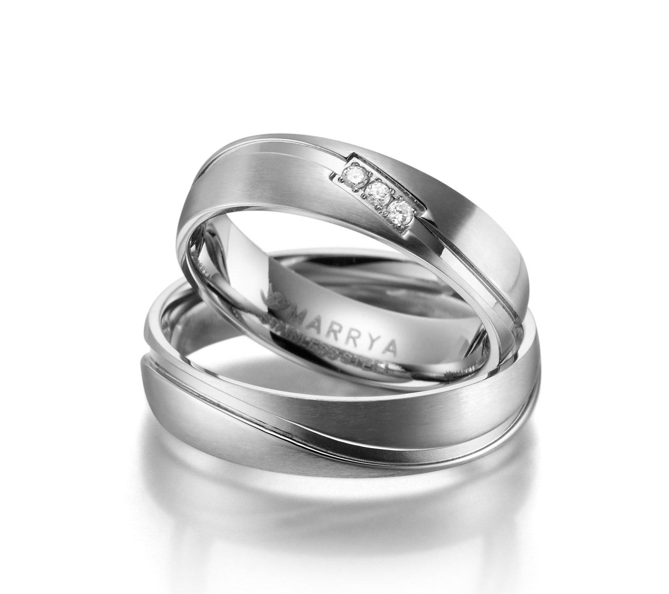 Snubní prsteny z chirurgické oceli ES-01