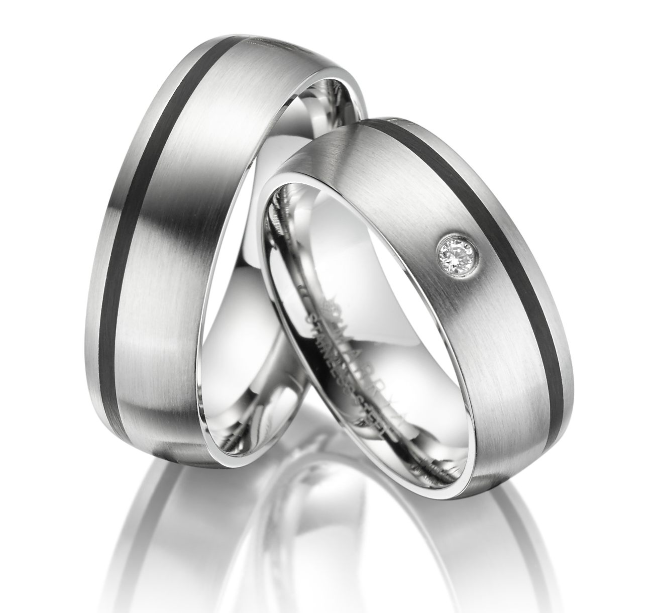 Snubní prsteny z chirurgické oceli ES-05