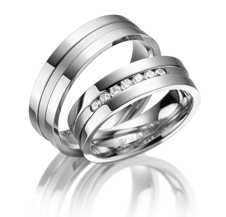 Snubní prsteny z chirurgické oceli ES-08