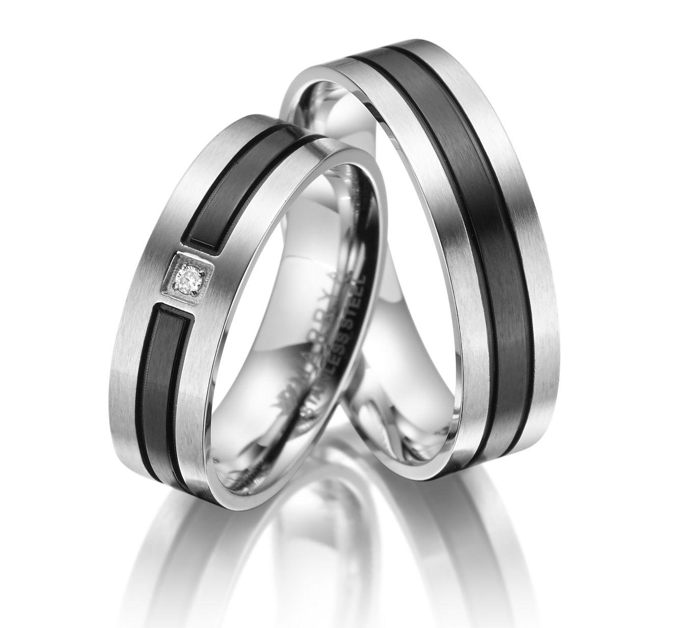 Snubní prsteny z chirurgické oceli ES-10