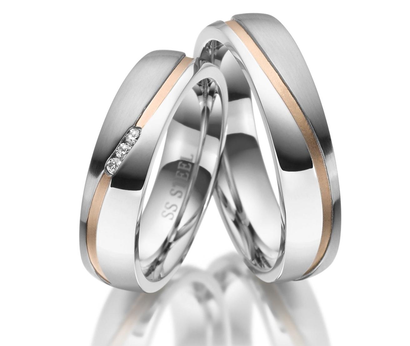 Snubní prsteny chirurgická ocel ES-11