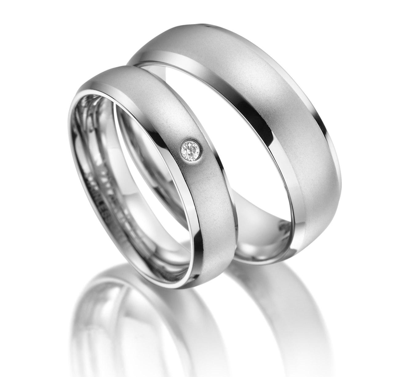 Svatební prstýnky chirurgická ocel ES-13