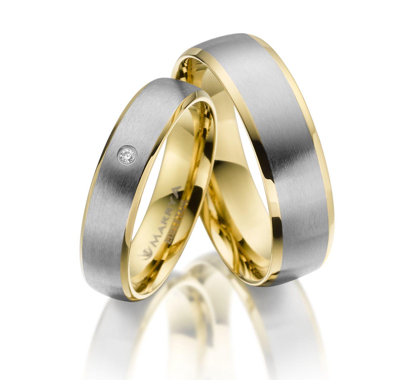 Snubní prsteny z chirurgické oceli ES-14