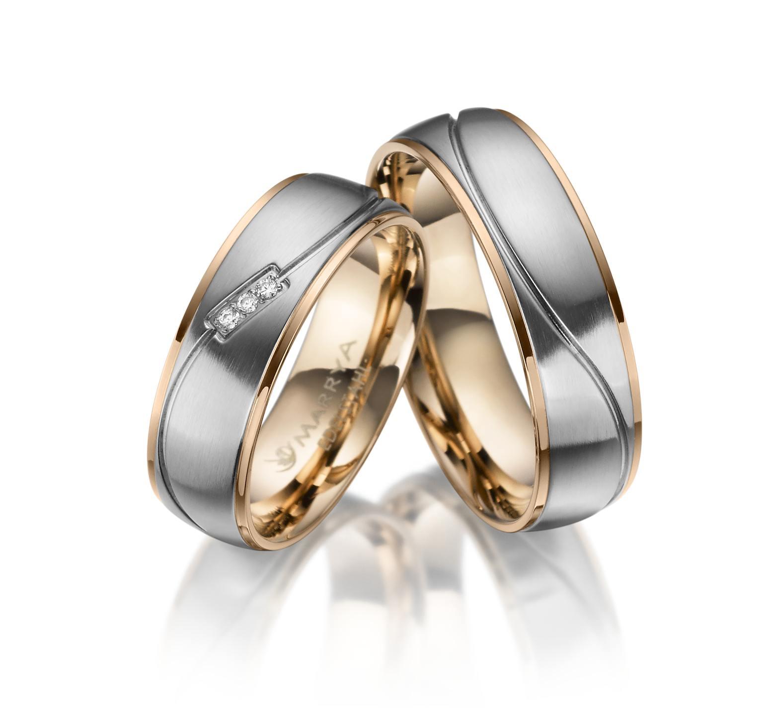 Snubní prsteny z chirurgické oceli ES-21