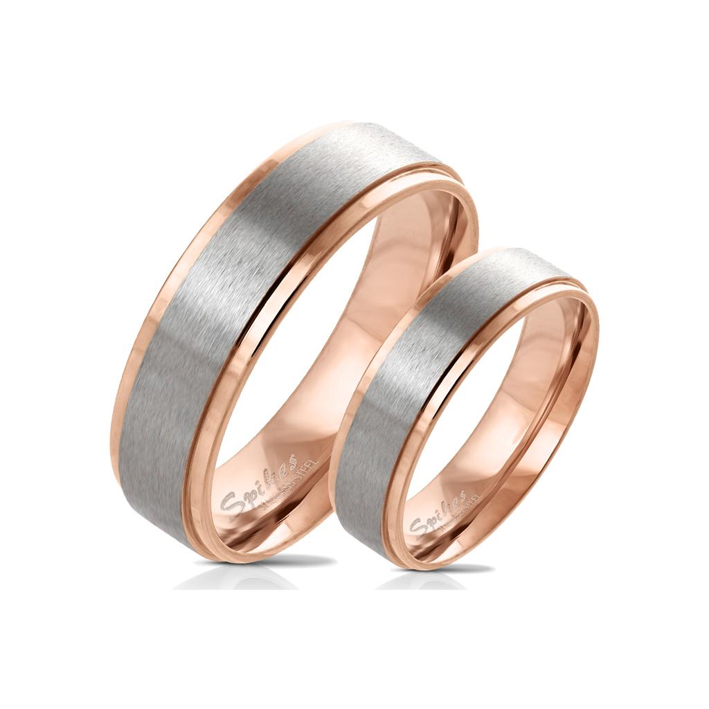 Snubní prsteny z chirurgické ocel R-M6055R