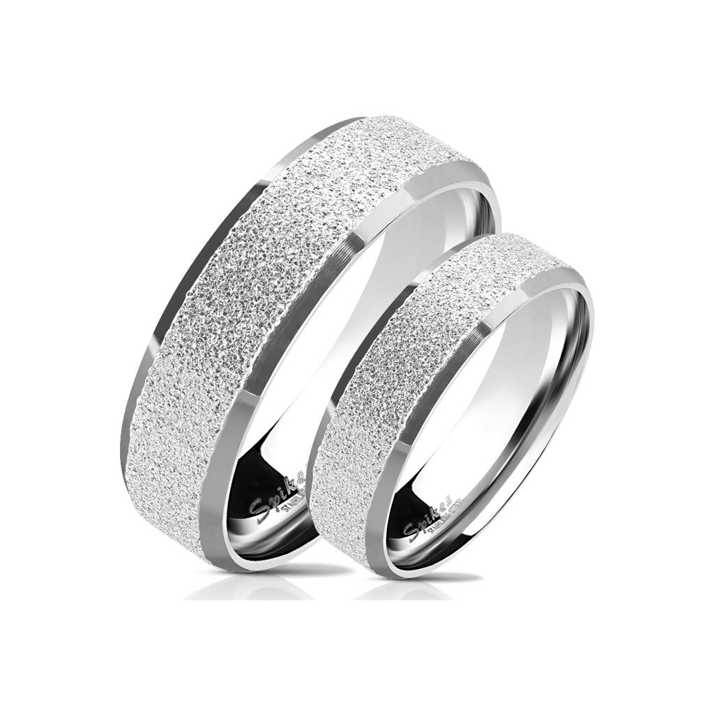 Snubní prsteny z chirurgické ocel R-M6390S