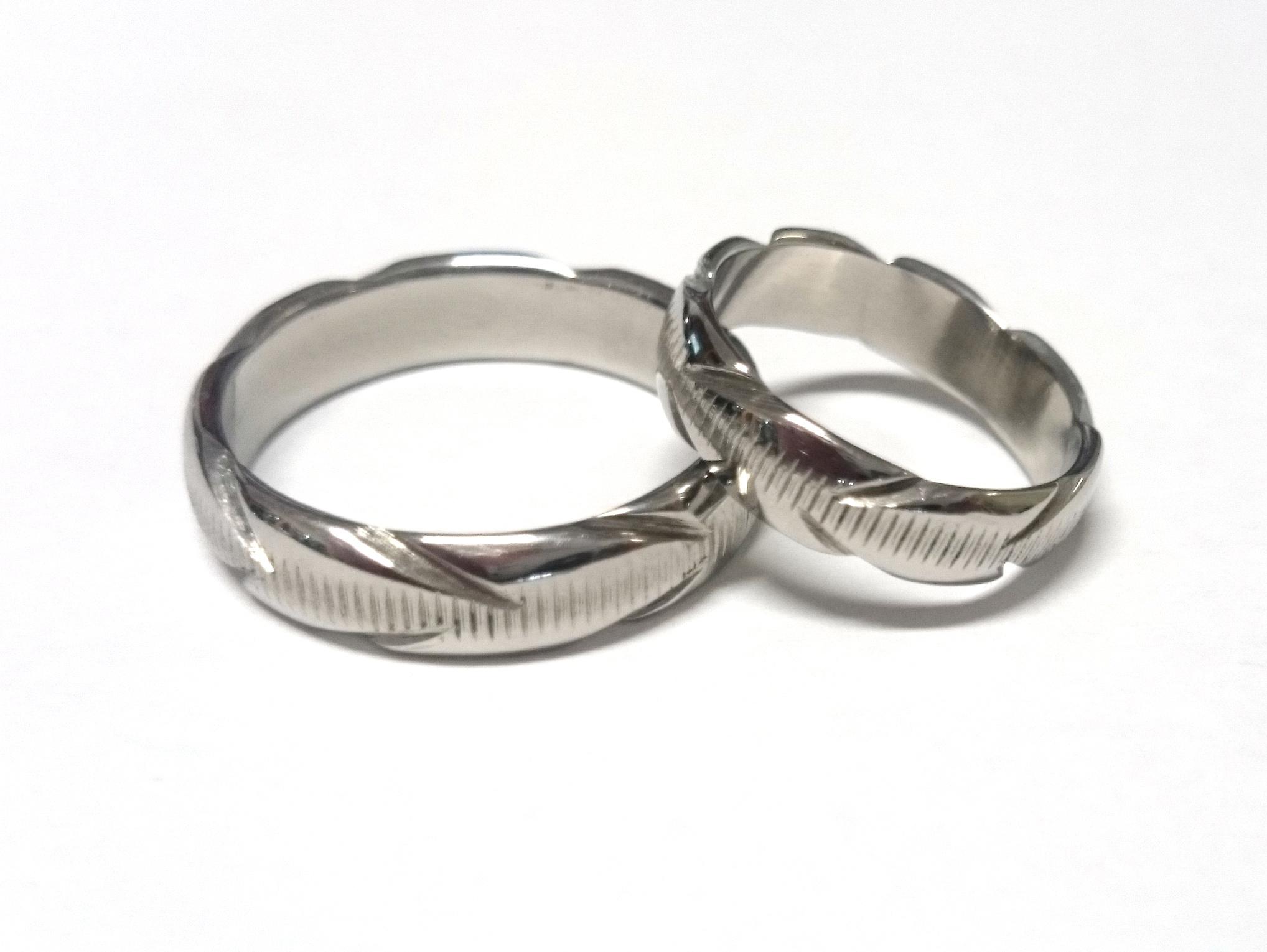 Snubní prsteny kovaná nerezová ocel KO-005