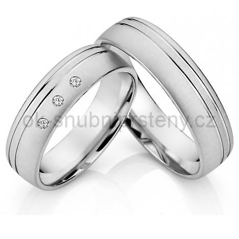 Stříbrné snubní prsteny ST1015