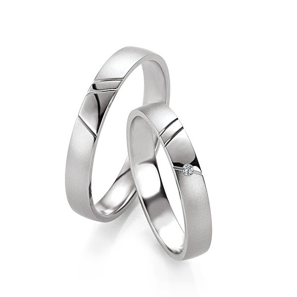 Stříbrné snubní prsteny ST1131