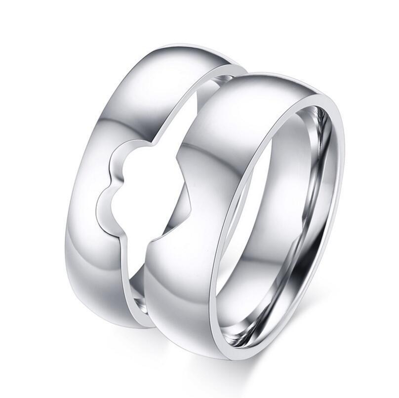 Stříbrné snubní prsteny ST300
