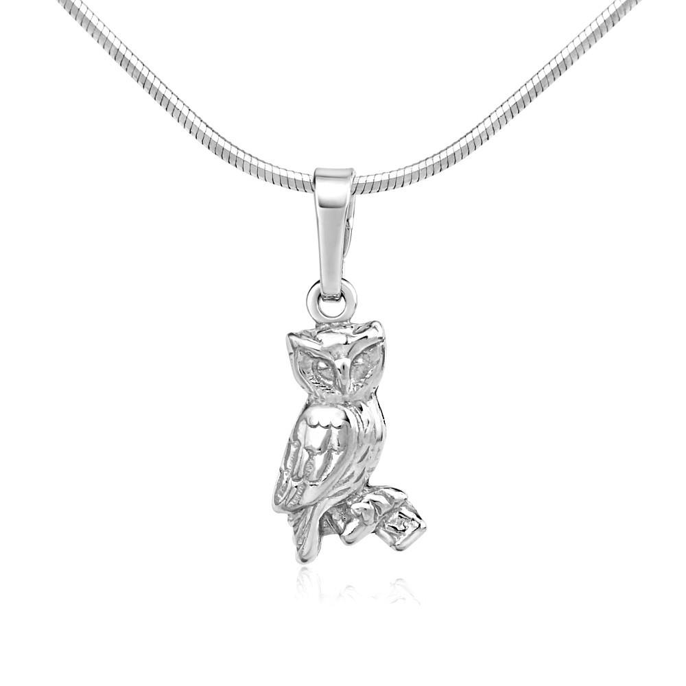 Stříbrný přívěsek sova SILVEGOB10665