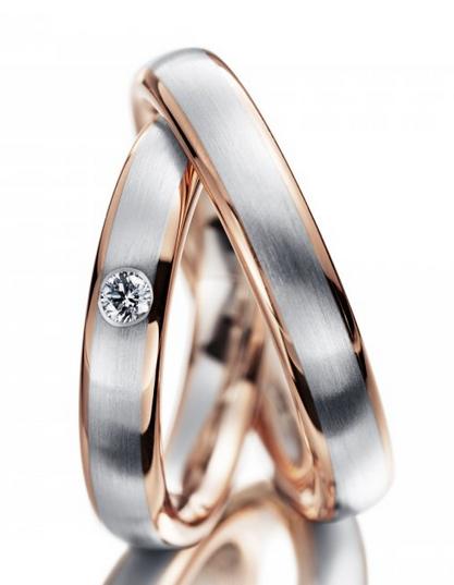 Snubní prsteny chirurgická ocel R-M4044