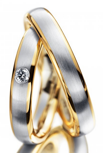 Snubní prsteny chirurgická ocel R-M4042