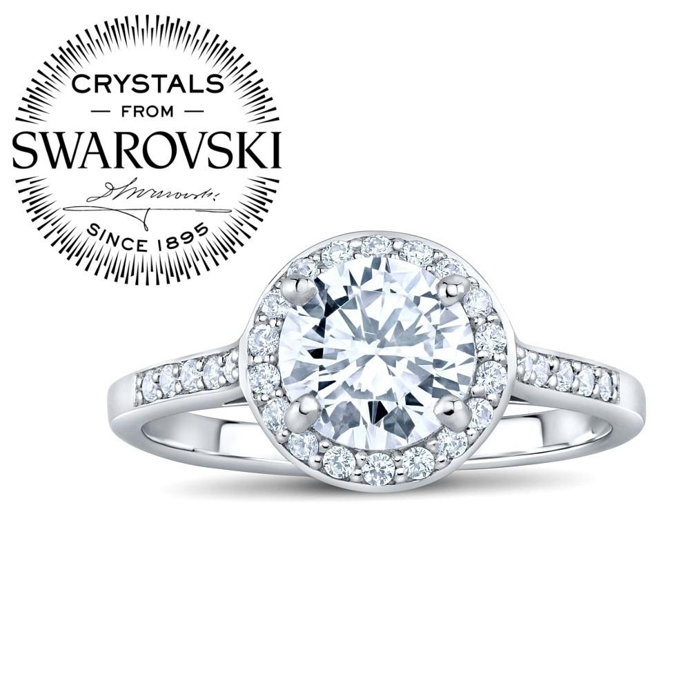 Silvego stříbrný prsten SKYE se Swarovski® Zirconia FNJSMR035sw