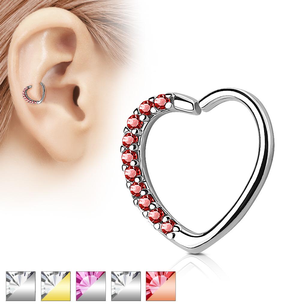 Piercing do nosu ucha ve tvaru srdce RXH01 9e3aa9d8953