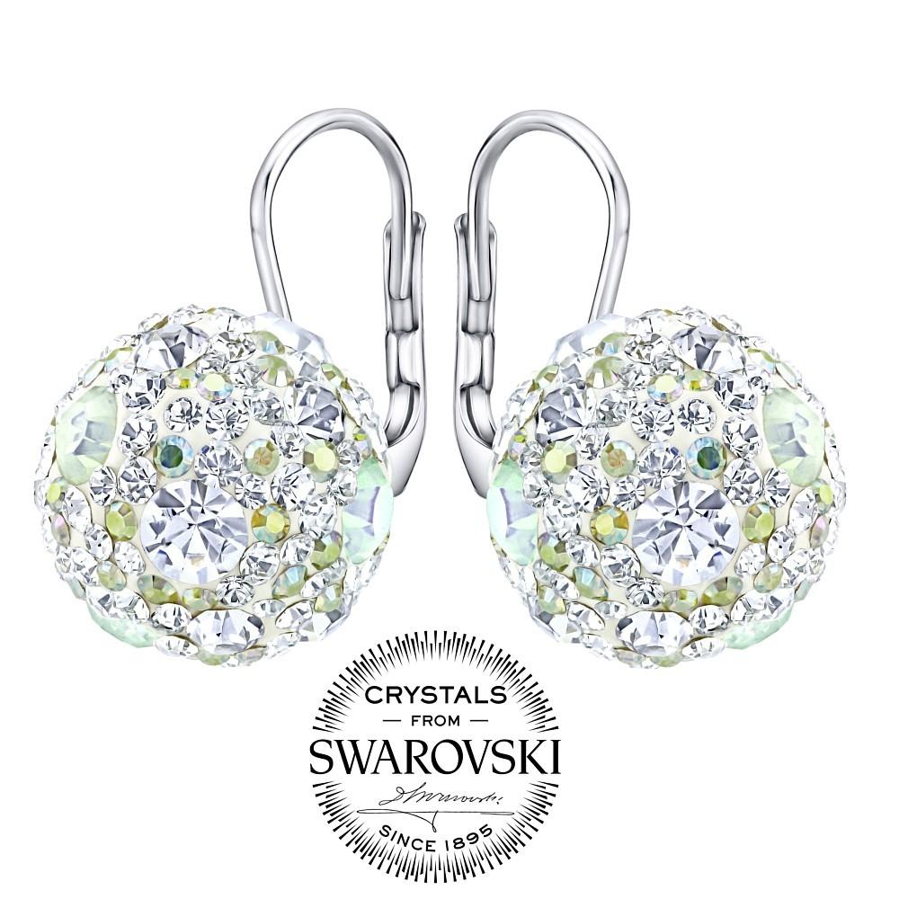 stříbrné náušnice kuličky 13 mm se Swarovski® Crystals čiré SILVEGOB36120w
