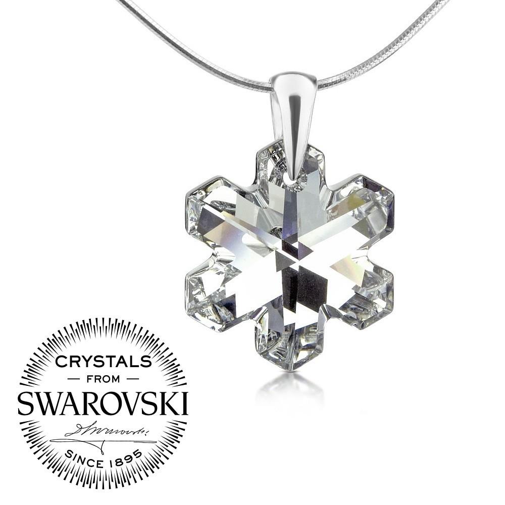 stříbrný přívěsek vločka se Swarovski® Crystals 20mm Argent LSW171P