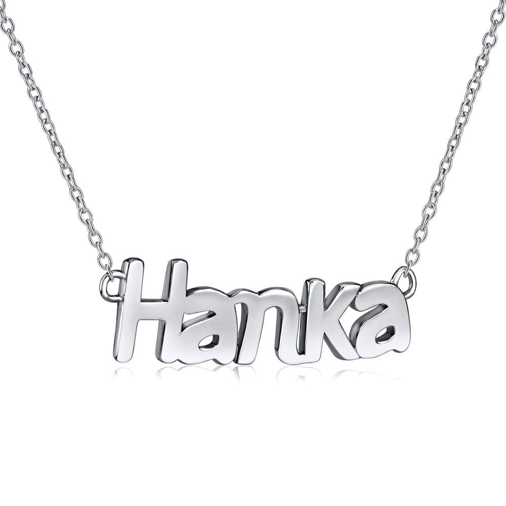 Stříbrný řetízek se jménem HANKA JJJ1861-HAN