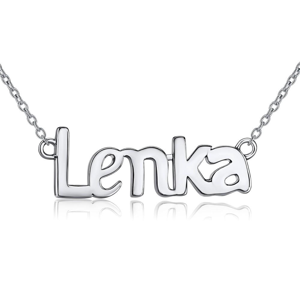 Stříbrný řetízek se jménem LENKA JJJ1866-LEN